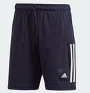 Adidas 男款深藍色運動短褲-NO....