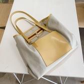 帆布包女側背大包韓版大容量時尚手提包托特包【聚寶屋】