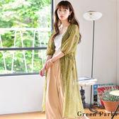 ❖ Summer ❖ 碎花柄薄紗長版連身裙/罩衫 - Green Parks