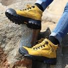 登山鞋女高幫防水防滑牛皮越野爬山鞋耐磨戶外運動沙漠徒步靴