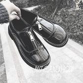 黑色小皮鞋原宿牛津鞋  米蘭shoe