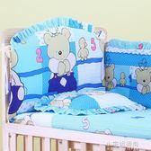 貝吉寶可拆洗嬰兒床上用品五件套六件套床圍嬰兒寶寶棉被床品套件YXS『小宅妮時尚』