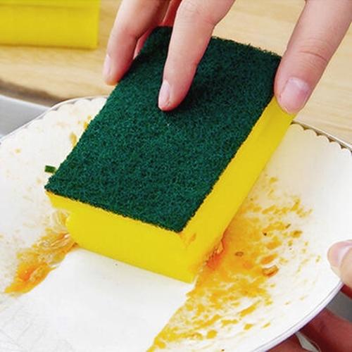 【兩用菜瓜布大號】雙面加厚洗碗巾 磨砂洗鍋刷 碗盤海綿刷 清潔刷 百潔布 高發泡洗碗綿