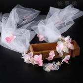 花環頭紗結婚花朵發箍頭帶配飾