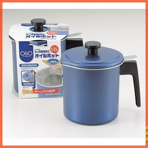 日本原裝 PEARL 1.2L 不鏽鋼濾油壺 油罐-H-5069