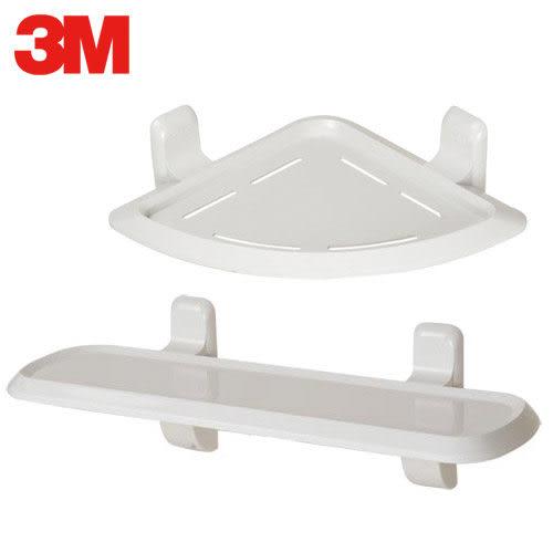A0713《3M》無痕衛浴收納-三角置物架+層板架