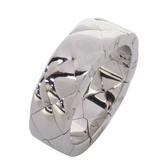 CHANEL 香奈兒 菱格紋18白K金戒指 Coco Crush Ring Quilted【二手名牌 BRAND OFF】