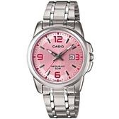 【CASIO】簡約知性女腕錶-粉面(LTP-1314D-5A)