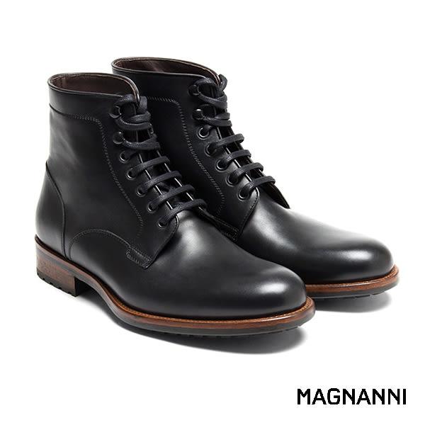 【MAGNANNI】簡約經典紳士皮靴 黑色(15248-BL)