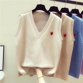 毛衣背心 毛衣馬甲女秋季2020新款女V領針織背心女韓版寬鬆外套學生上衣女 歐歐