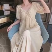 孕婦裙 孕婦裝夏裝連衣裙新款夏季時尚網紅洋氣減齡不顯懷孕婦連衣裙