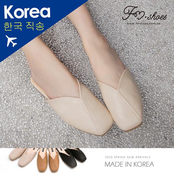 穆勒鞋.V口方頭穆勒鞋(米白)-FM時尚美鞋-韓國精選.Lifestyle