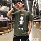 熱銷短袖T恤唐獅短袖t恤男裝2020新款潮流純棉上衣半袖圓領韓版學生港風衣服
