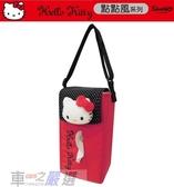 車之嚴選 cars_go 汽車用品【PKTR007R-02】Hello Kitty 點點風系列 面紙盒套掛袋(可吊掛車內頭枕)