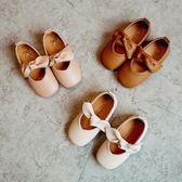 女童奶奶鞋皮鞋兒童豆豆鞋公主鞋平底單鞋【南風小舖】