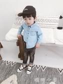 男童襯衫2018新款韓版兒童長袖休閒上衣寶寶牛仔襯衣男1-2-3歲潮  嬌糖小屋