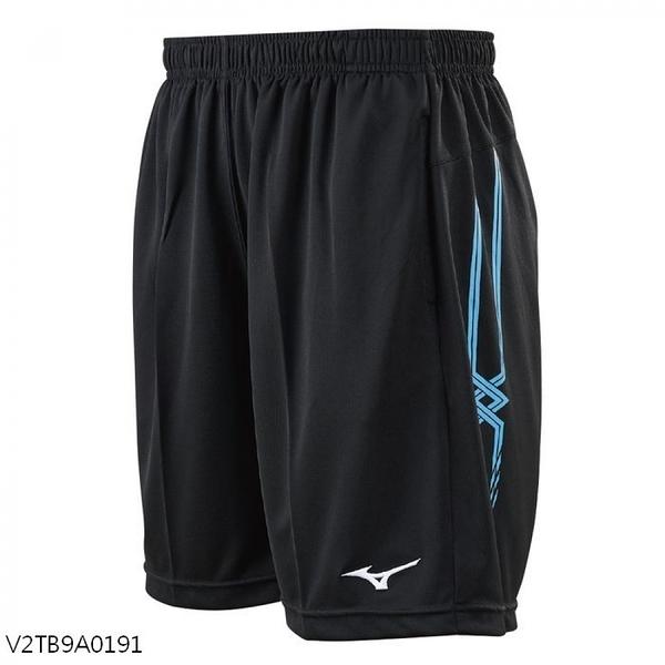 MIZUNO 男裝 短褲 排球 手球 吸汗快乾 透氣 L股下18CM 黑藍【運動世界】V2TB9A0191
