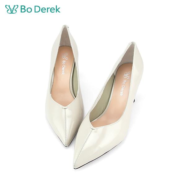 Bo Derek 尖頭造型鞋跟高跟鞋-珍珠白