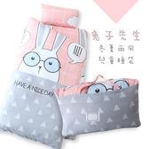 【R.Q.POLO】兔子先生 ZOO系列兒童冬夏兩用鋪棉書包睡袋(4.5X5尺)