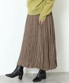 出清 長裙 皺褶 格紋 褶裙 日本品牌【coen】