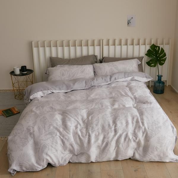 天絲 床包被套組(薄) 雙人【棕櫚島】涼感 親膚 100%tencel 萊賽爾纖維 翔仔居家