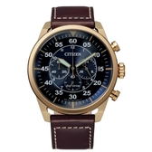 CITIZEN 三眼飛行者光動能計時時尚腕錶CA4213-26L