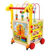 寶寶嬰兒童學步車手推車6/7-18個月1歲多功能防側翻大繞珠百寶箱 igo 露露日記