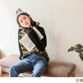 《AB8906-》內刷毛迷彩印短版連帽上衣 OB嚴選
