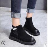 秋冬季新款雪地靴女馬丁短靴短筒平底棉鞋學生女鞋女靴子棉靴 時尚芭莎