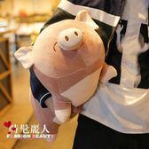 毛絨玩具趴豬公仔女生抱著睡覺的娃娃可愛玩偶超萌搞怪  全店88折特惠