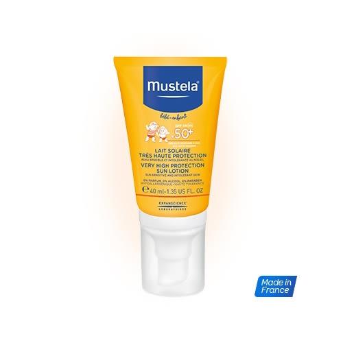 【即期買一送一】Mustela慕之恬廊 - 高效性兒童防曬乳 SPF50+ 40ml 贈免用水清潔液50ml