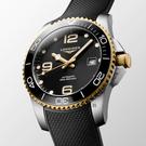 LONGINES 浪琴 深海征服者浪鬼陶瓷潛水機械錶-黑x金/41mm(L37813569)