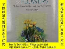 二手書博民逛書店Hand-stitched罕見Landscapes & Flowers: 10 charming embroide