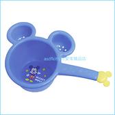 asdfkitty可愛家☆米奇造型藍色小水瓢/小水勺-小容量.不過重.好拿好握-訓練幼童洗澡-日本製