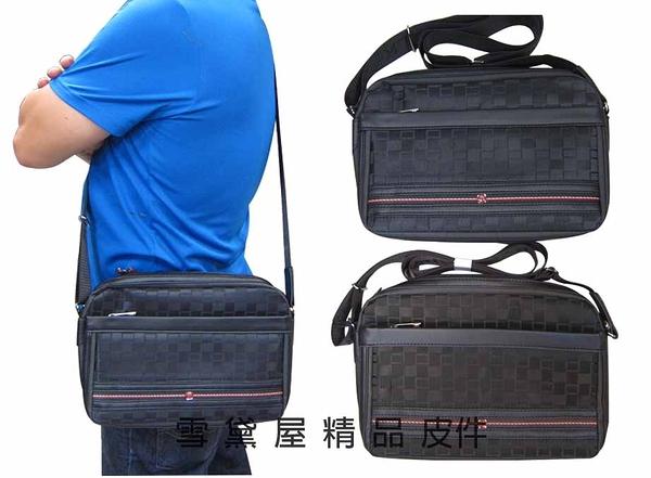 ~雪黛屋~STATE-POLO 肩側包防水尼龍布+皮革二層主袋可放10吋電腦保護隨身品外出014-1617(小)