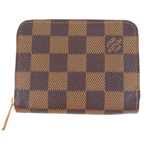茱麗葉精品 全新名牌 Louis Vuitton LV N63070 棋盤格紋信用卡拉鍊零錢包(預購)