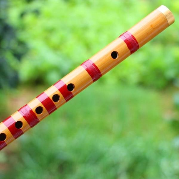 本色銅皮線簫豎笛子43公分民族樂器蕭
