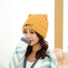 毛線帽帽子女冬天加絨毛線帽卡通百搭加厚保暖針織帽可愛甜美學生潮新品