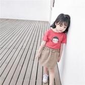 女童短袖T恤夏裝2020新款嬰兒童洋氣半袖小寶寶韓版純棉上衣潮季