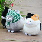 玩偶  可愛胡子饅頭貓 小貓咪公仔毛絨玩具抱枕福氣系列布娃娃生日禮物 全館免運折上折