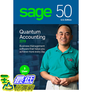 [8美國直購] 暢銷軟體 Sage 50 Quantum Accounting 2019 – Small Business Accounting Management Software B07FMDQLS1