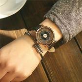 同款情侶手錶英倫風簡約韓版男女高中學生歐美復古皮帶潮錶 檸檬衣捨