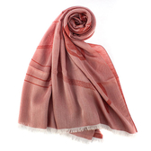 ARMANI Collezioni經典大字母LOGO流蘇披肩圍巾(橘紅色)102813-3