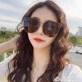 太陽眼鏡女大框明星同款網紅韓版ins茶色偏光墨鏡圓臉潮 三角衣櫃