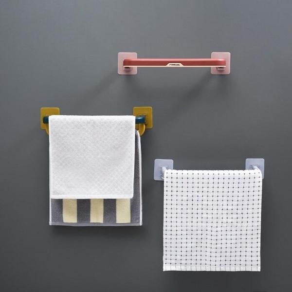雙層毛巾桿【SG854】 免打孔 衛生間浴室吸盤 掛架 浴巾架 北歐創意 折疊毛巾架