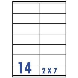 Unistar 裕德3合1電腦標籤紙 (17)US4475 14格 (100張/盒)