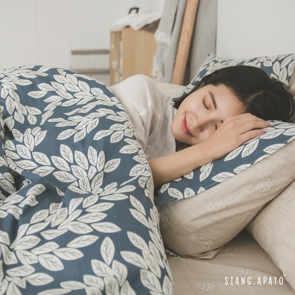 純棉 床包被套組(薄) 加大【莫吉托】ikea風 100%精梳棉 翔仔居家