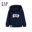 Gap女幼童 Logo縮口連帽休閒外套 567906-海軍淺藍