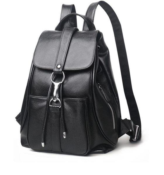 618大促 2019新款雙肩包真皮韓版女士包包休閒大容量時尚百搭軟皮媽咪背包 百搭潮品