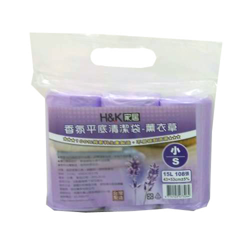 H&K家居香氛平底清潔垃圾袋小薰衣草【愛買】